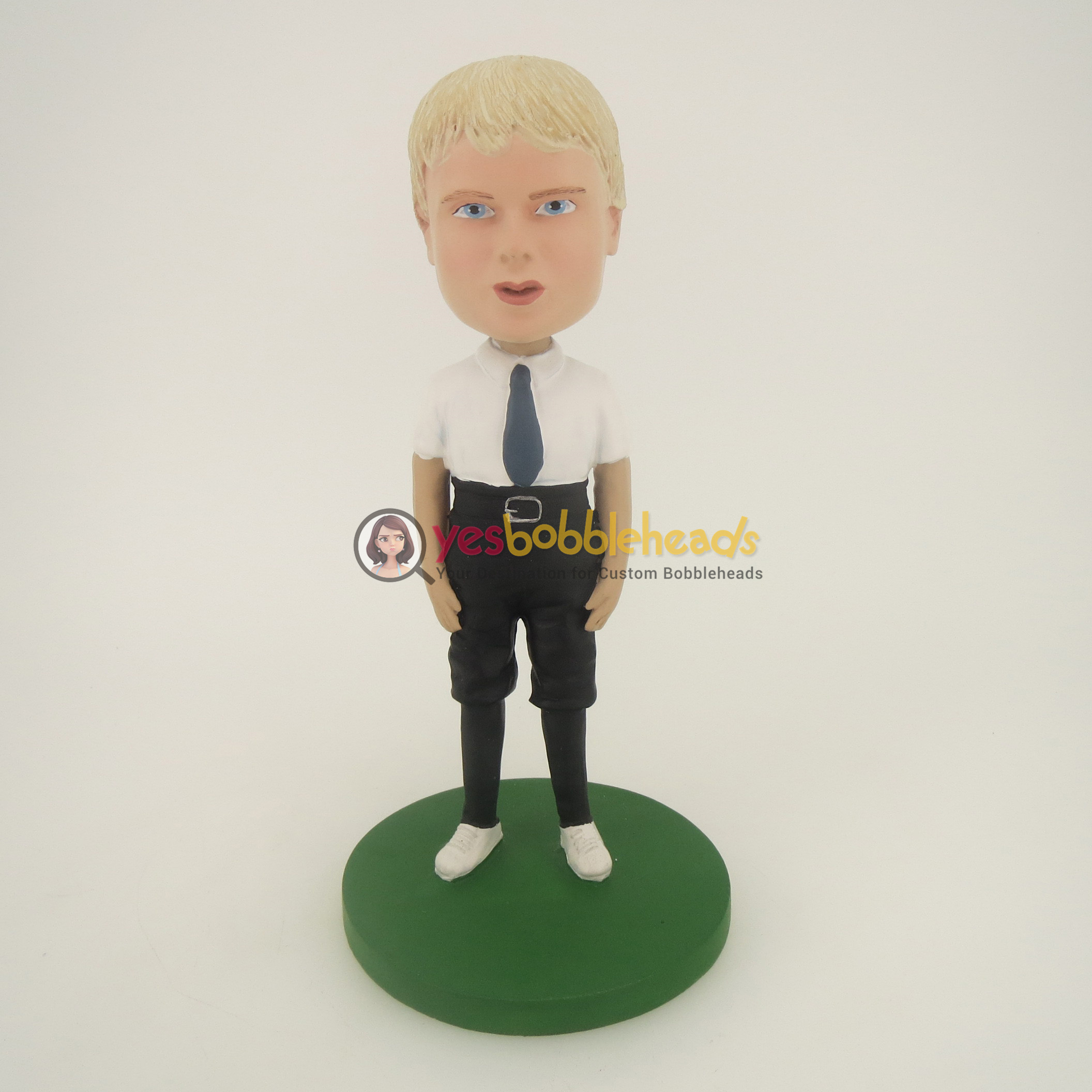 Picture of Custom Bobblehead Doll: Man With White TShirt And Short Jeans