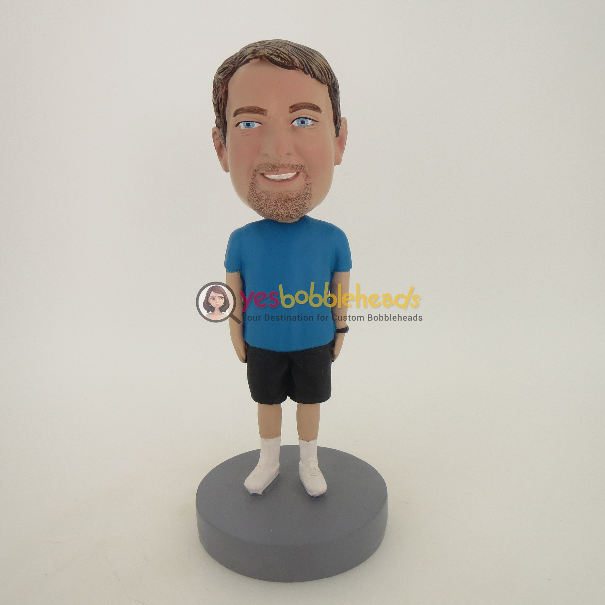 Picture of Custom Bobblehead Doll: Nice Looking Beard Casual Man