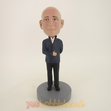 Picture of Custom Bobblehead Doll: Old Man In Black Coat