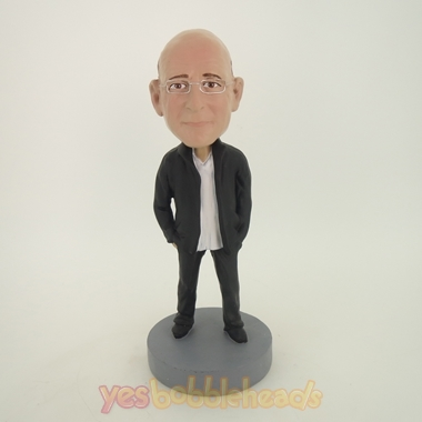 Picture of Custom Bobblehead Doll: Old Man In Black