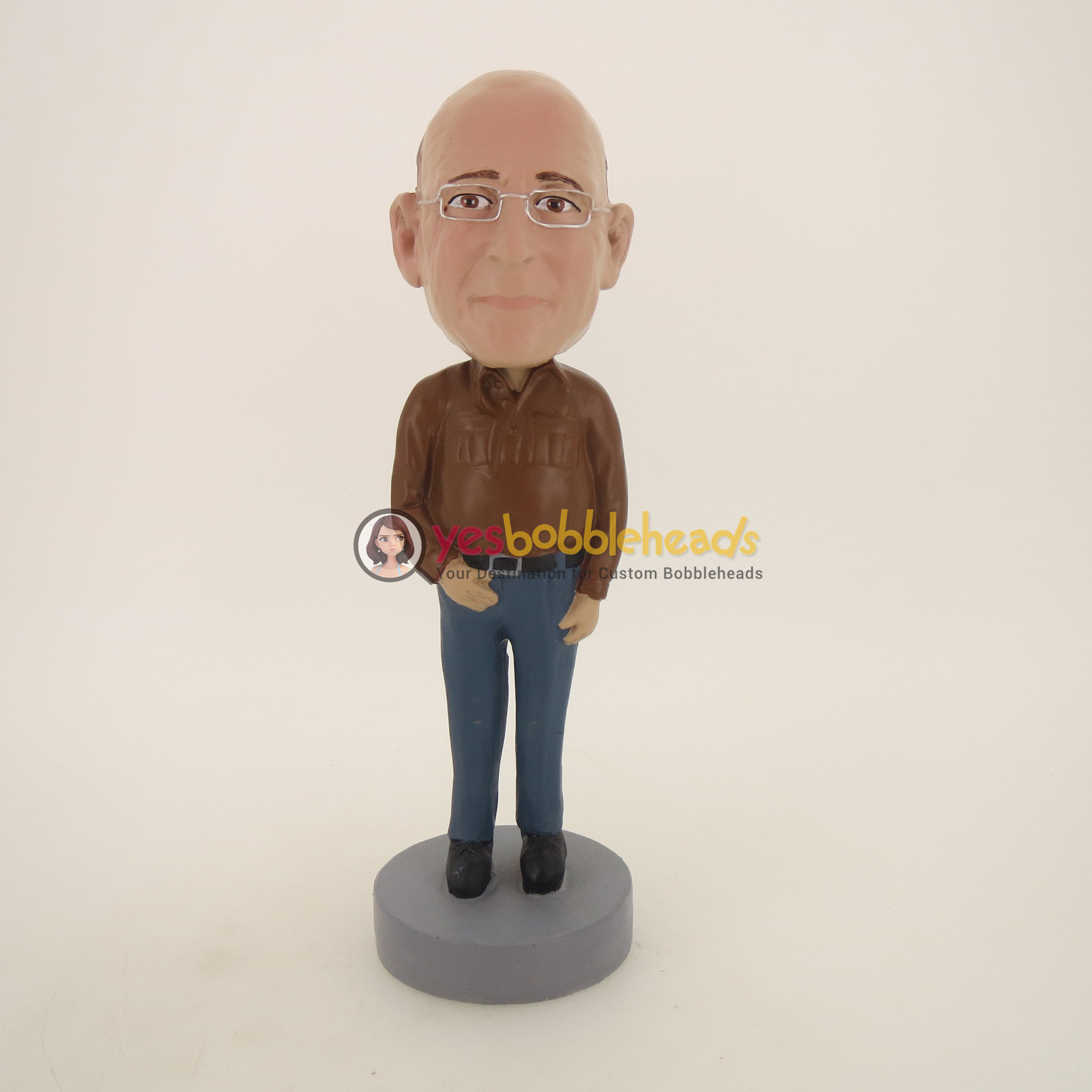 Picture of Custom Bobblehead Doll: Old Man In Brown