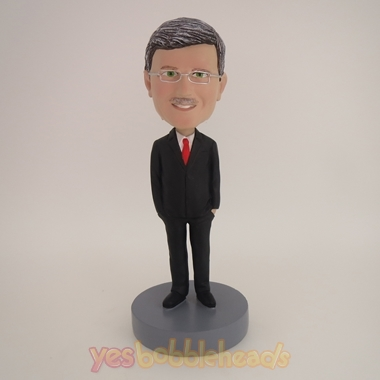 Picture of Custom Bobblehead Doll: Old Man In Formal Business Suit