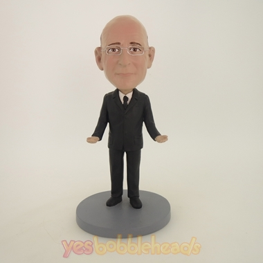 Picture of Custom Bobblehead Doll: Old Man In Pure Black
