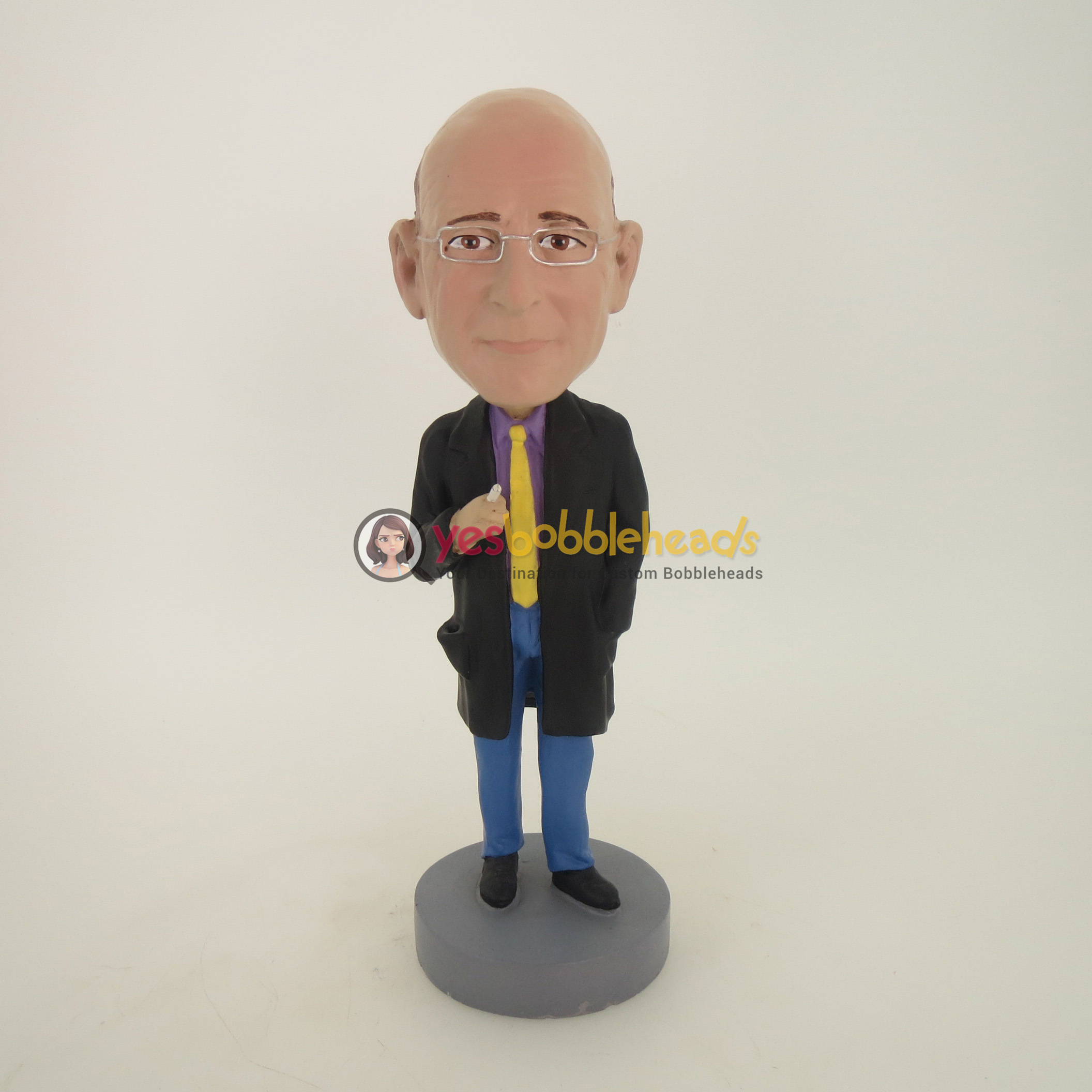 Picture of Custom Bobblehead Doll: Old Man Smoking