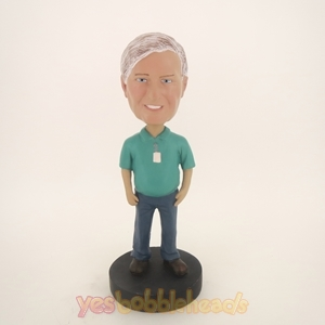 Picture of Custom Bobblehead Doll: Older Man In Casual Style Clothing
