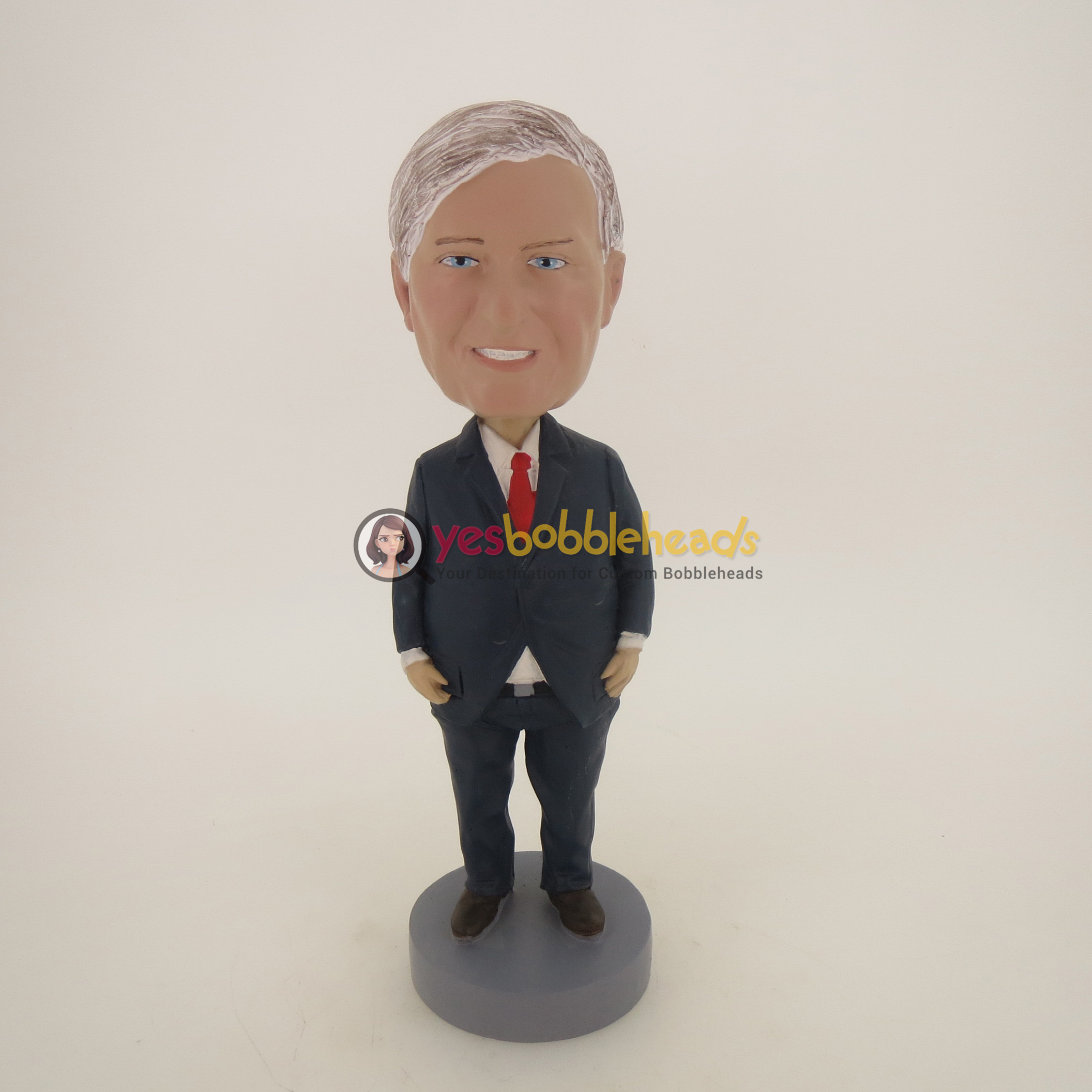 Picture of Custom Bobblehead Doll: Serious Old Business Man