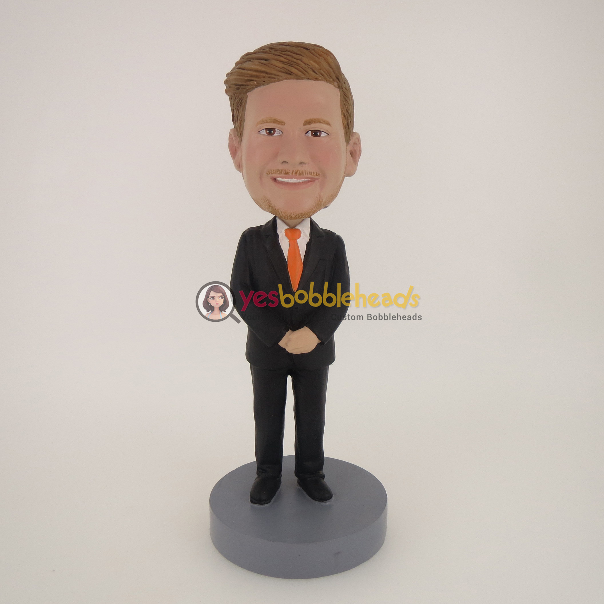 Picture of Custom Bobblehead Doll: Smiling Business Man