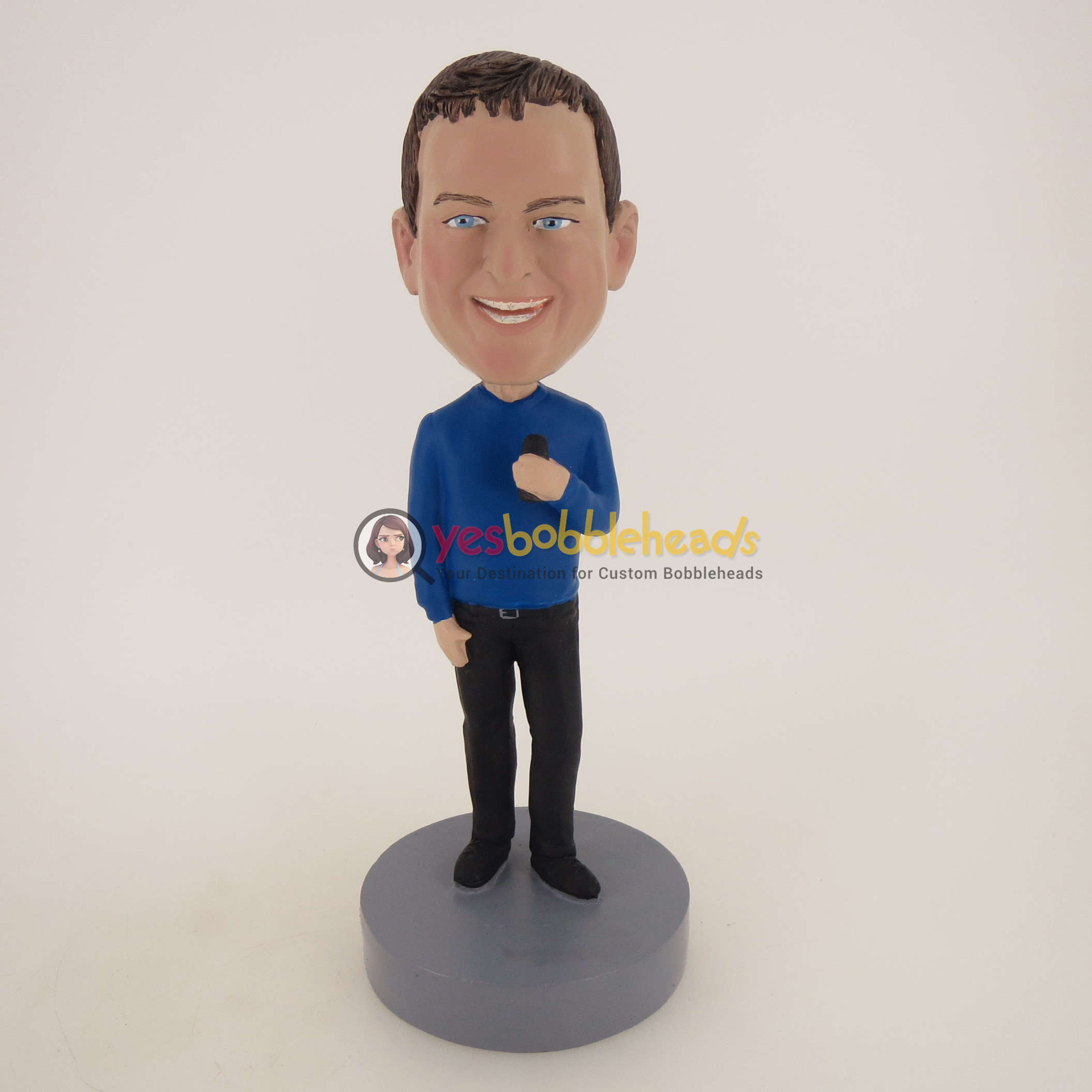 Picture of Custom Bobblehead Doll: Smiling Casual Man