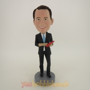 Picture of Custom Bobblehead Doll: Smart Business Man