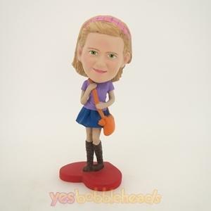 Picture of Custom Bobblehead Doll: Pretty Schoolgirl
