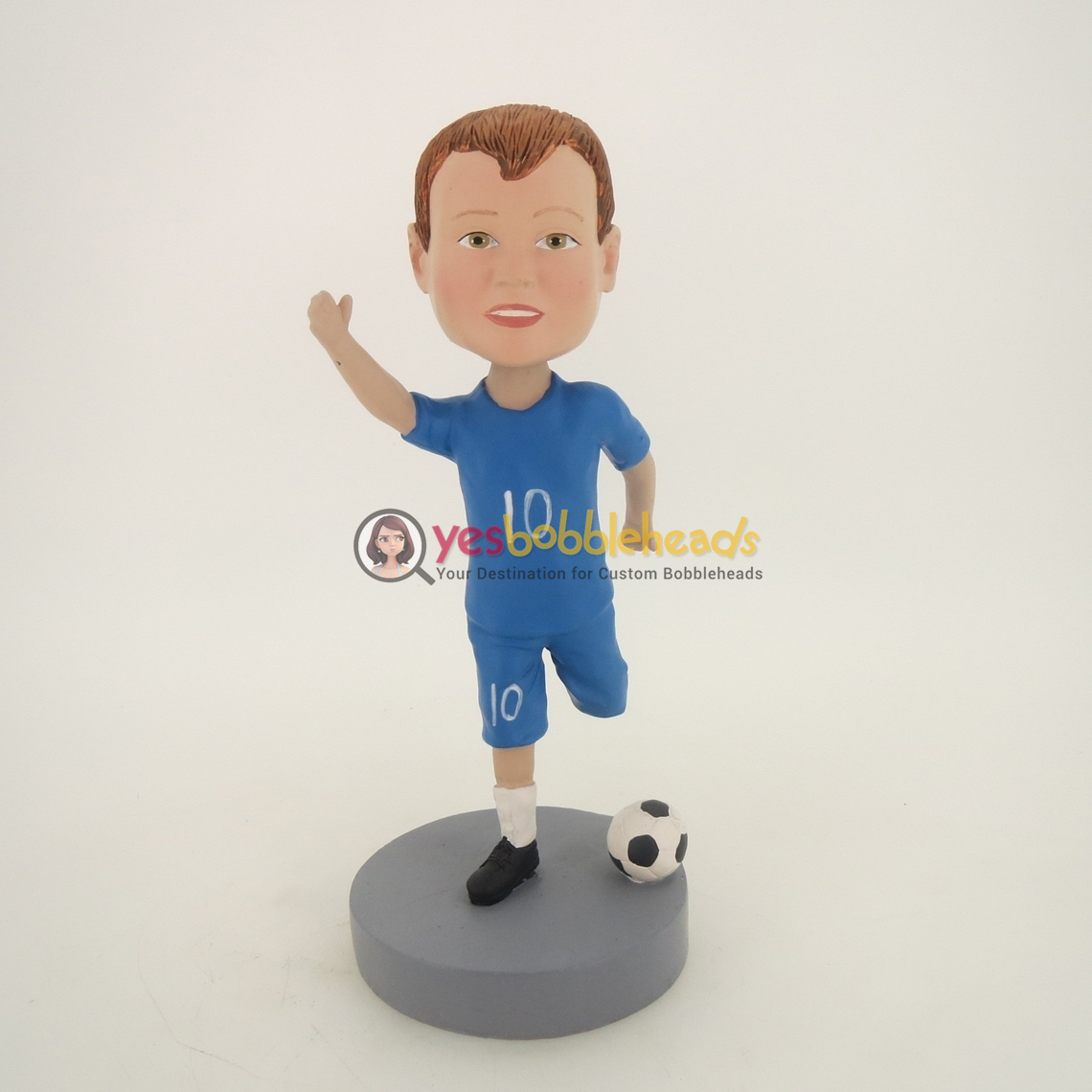 Picture of Custom Bobblehead Doll: Boy Playing Soccer
