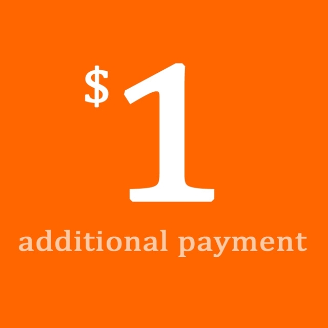 Picture of Additional Payment of $1