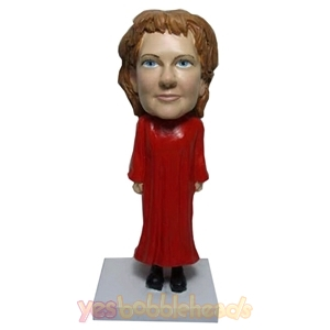 Picture of Custom Bobblehead Doll: Female Graduate In Red