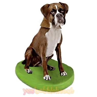 Picture of Custom Bobblehead Doll: Pet Dog Boxer Brown