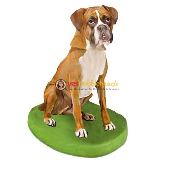 Picture of Custom Bobblehead Doll: Pet Dog Boxer Gold