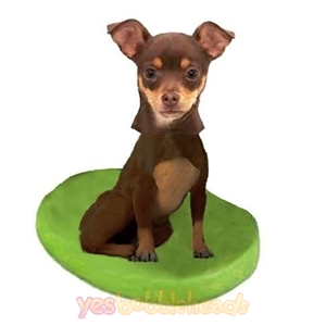 Picture of Custom Bobblehead Doll: Pet Dog Chihuahuas Brown