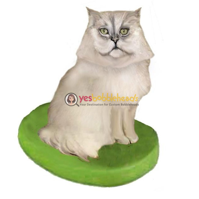 Picture of Custom Bobblehead Doll: Pet Cat Persian Cat Grey