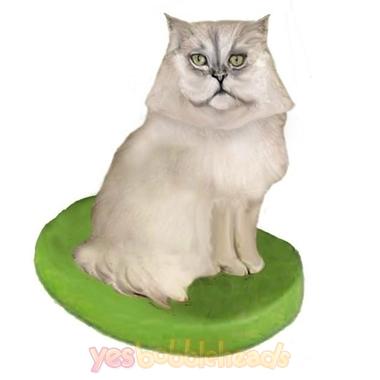 Picture of Custom Bobblehead Doll: Pet Cat Persian Cat Grey