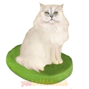 Picture of Custom Bobblehead Doll: Pet Cat Persian Cat White