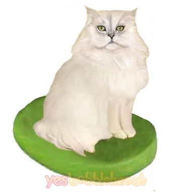 Picture of Custom Bobblehead Doll: Pet Cat Persian Cat White