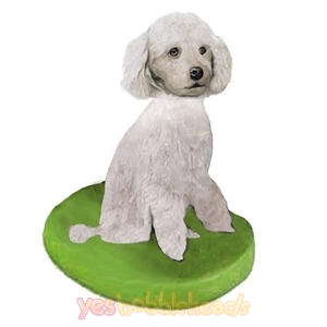 Picture of Custom Bobblehead Doll: Pet Dog Poodle White Miniature