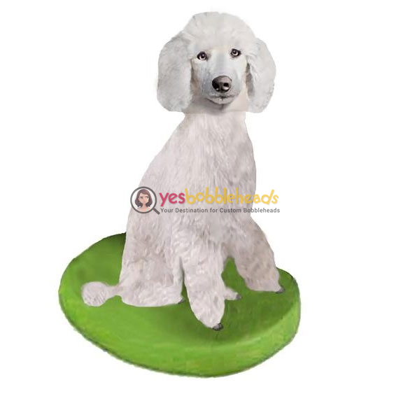 Picture of Custom Bobblehead Doll: Pet Dog Poodle White