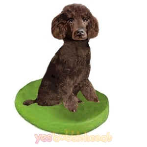 Picture of Custom Bobblehead Doll: Pet Dog Poodle Brown Miniature