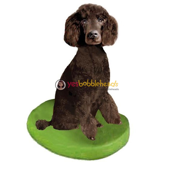 Picture of Custom Bobblehead Doll: Pet Dog Poodle Brown