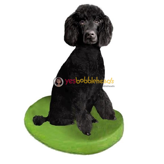 Picture of Custom Bobblehead Doll: Pet Dog Poodle Black