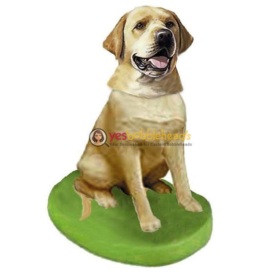 Picture of Custom Bobblehead Doll: Pet Dog Labrador Retriever Yellow