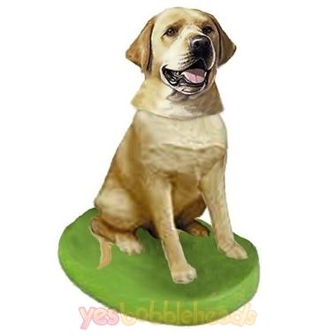 Picture of Custom Bobblehead Doll: Pet Dog Labrador Retriever Yellow