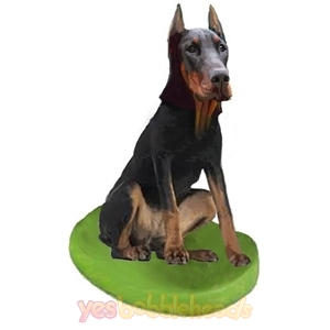 Picture of Custom Bobblehead Doll: Pet Dog Doberman Pinscher