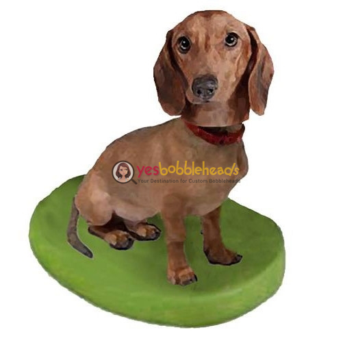 Picture of Custom Bobblehead Doll: Pet Dog Dachshunds Brown
