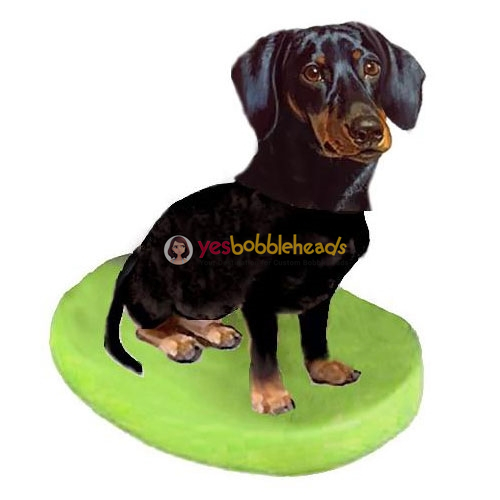 Picture of Custom Bobblehead Doll: Pet Dog Dachshunds Black