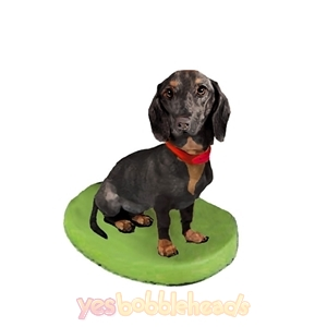 Picture of Custom Bobblehead Doll: Pet Dog Dachshund displaying Collar