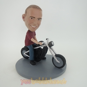 Picture of Custom Bobblehead Doll: Man Riding A Motor