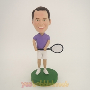 Picture of Custom Bobblehead Doll: Man Playing Tennis