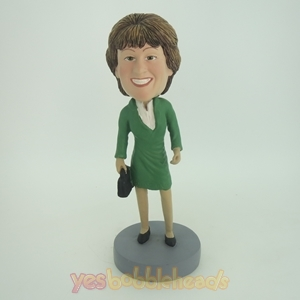 Picture of Custom Bobblehead Doll: Elegant Woman With Proud Smile