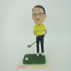Picture of Custom Bobblehead Doll: Man Playing Golf