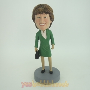 Picture of Custom Bobblehead Doll: Elegant Woman With Proud Smiles