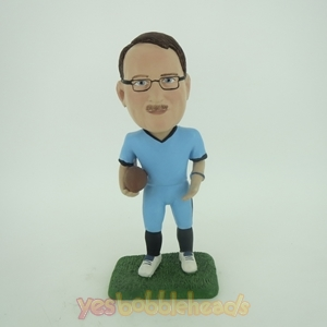 Picture of Custom Bobblehead Doll: Football Player & Lover