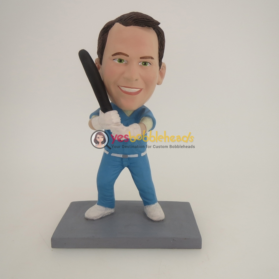 Picture of Custom Bobblehead Doll: Baseball Player Ready To Hit