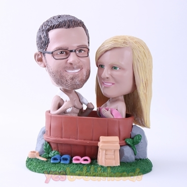 Picture of Custom Bobblehead Doll: Couple Bathing Together