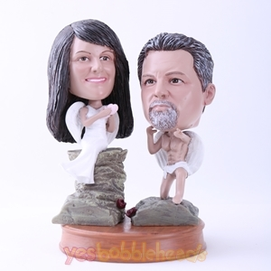 Picture of Custom Bobblehead Doll: Couple Cosplay Angel