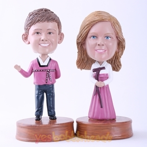 Picture of Custom Bobblehead Doll: Couple in Hanbok