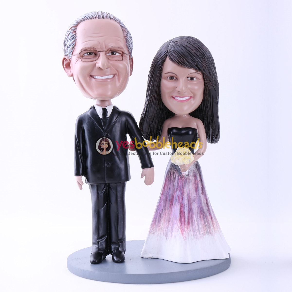 Picture of Custom Bobblehead Doll: Graceful Bride and Groom