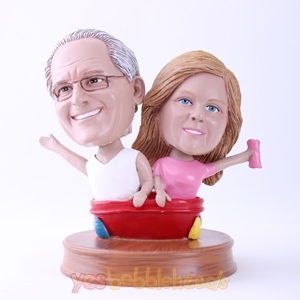 Picture of Custom Bobblehead Doll: Husband and Wife Bathing