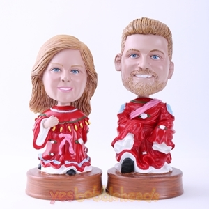 Picture of Custom Bobblehead Doll: Red Costume Couple