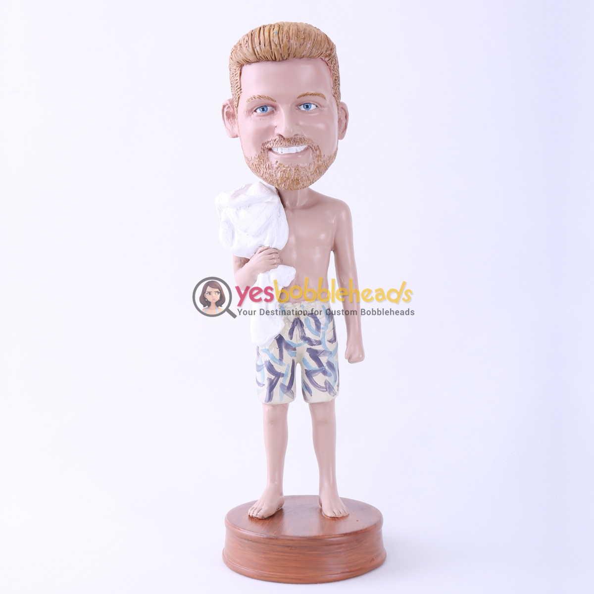"Picture of Custom Bobblehead Doll: Bathing Man (About 9"" Tall)"