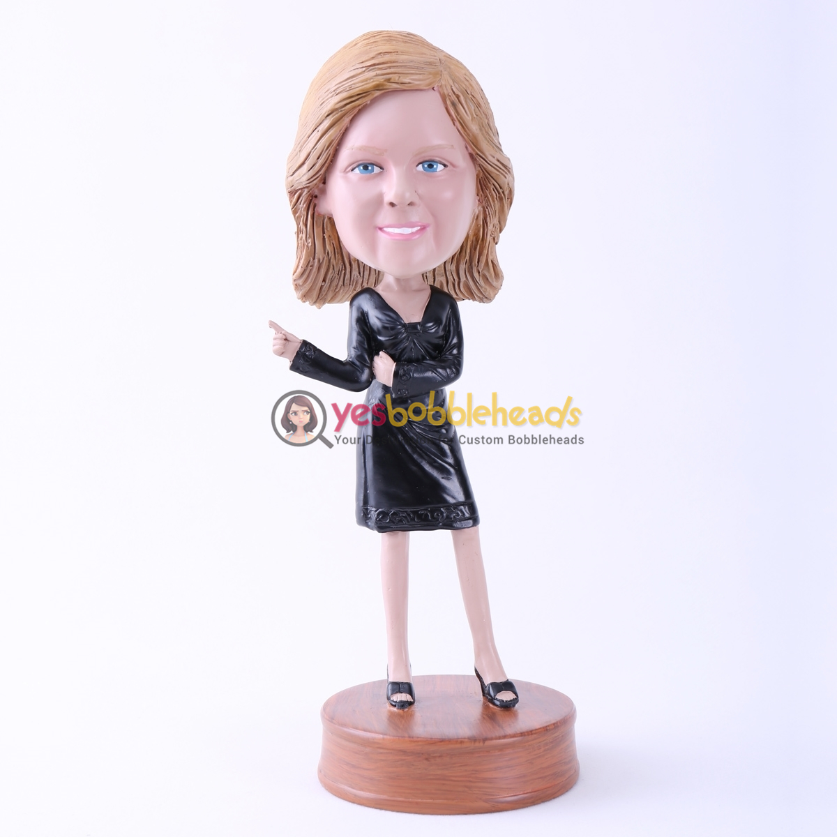 Picture of Custom Bobblehead Doll: Black Dress Lady